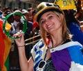 Cheerleader at Toronto Pride Parade 2010 Royalty Free Stock Photo