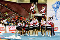 Cheerleading Championship Action Stock Image
