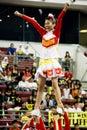 Cheerleading Championship Action Royalty Free Stock Photo