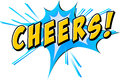 Cheers flash text with blue Royalty Free Stock Photo