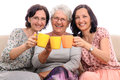 Cheers happy family women Stock Photography