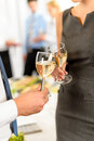 Cheers to business successful cooperation Royalty Free Stock Photo