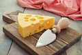 Cheese with big holes Royalty Free Stock Photo