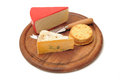 Cheese and biscuits Stock Images