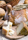 Cheese and Bread 2 Stock Photography