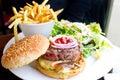 Cheese burger Royalty Free Stock Photos