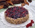 Cheese cake with berries Royalty Free Stock Images