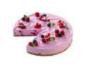 Cheese cake with berries Stock Images