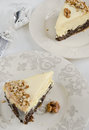 Cheese cake with poppy seeds for christmas Stock Photo