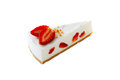 Cheese cake with strawberry Stock Images