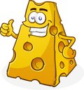 Cheese Character Thumbs Up Royalty Free Stock Image