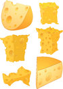 Cheese clip art Royalty Free Stock Images