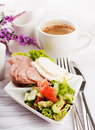 Cheese and coffee, Provencal style Stock Image