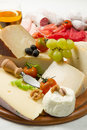 Cheese and cold cuts Stock Photos