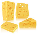 Cheese contains transparent objects eps Royalty Free Stock Photography