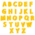 Cheese  decorative letters Stock Photos