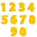 Cheese  decorative numbers Stock Photos