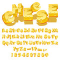 Cheese font Royalty Free Stock Photography