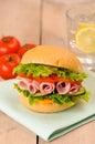 Cheese & Ham Crusty Roll Royalty Free Stock Photo