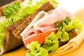 Cheese and Ham Sandwich 2 Royalty Free Stock Photo