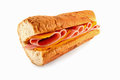 Cheese and Ham Sandwich Royalty Free Stock Photo