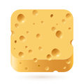 Cheese icon illustration on white background for creative design Royalty Free Stock Image