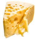 Cheese isolated. Royalty Free Stock Images