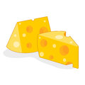 Cheese isolated illustration on white background Royalty Free Stock Photos