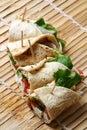 Cheese kathi rolls Stock Photo