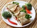 Cheese kathi rolls Royalty Free Stock Photo