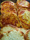 Cheese Manakish - Flat bread topped with cheese. Traditional Ara Royalty Free Stock Photo