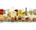 Cheese Mix Stripes Royalty Free Stock Photo