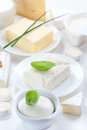 Cheese and other dairy products Royalty Free Stock Photos