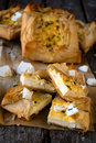 Cheese pastry slices Stock Photography