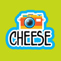 Cheese For Photo Sticker Social Media Network Message Badges Design