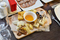 Cheese plate with cheeses Dorblu Royalty Free Stock Photo