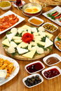 Cheese plates and breakfasts Royalty Free Stock Photo