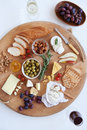 Cheese platter for two Royalty Free Stock Photo