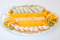 Cheese platter with various cheeses delicious Stock Photography