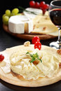 Cheese and salami platter Royalty Free Stock Photography