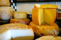 Cheese selection of irish in dingle Royalty Free Stock Photo