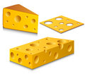 Cheese set cut in different forms Stock Image