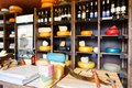 Cheese shop shelves, large assortment