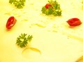 Cheese sliced sliced cheese from germany Royalty Free Stock Images