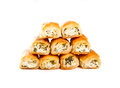 Cheese and spinach rolls Royalty Free Stock Images