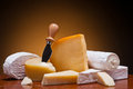 Cheese still life Stock Photography