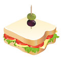 Cheese and tomato sandwich Royalty Free Stock Image