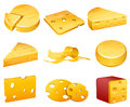 Cheese vector illustration of isolated on white background Stock Images