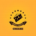 Cheese vintage label design background eps Royalty Free Stock Photography