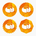 Cheese wheel sign icon. Sliced cheese. Royalty Free Stock Photo